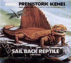 Sail Back Reptile  Aurora Prehistoric Scenes