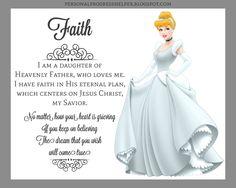 Young Women Values Disney Princesses Faith