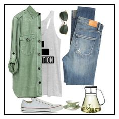 """""""dreamer"""" by tinkerballa17 ❤ liked on Polyvore featuring Converse, Chin Up, Royal Crown Derby, Ray-Ban and Citizens of Humanity"""