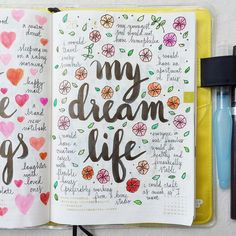 Day 26 of #listersgottalist: my dream life ❤️ #journal #artjournal #hobonichi…