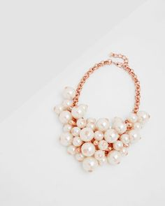 GEMINNA Pearl cluster necklace