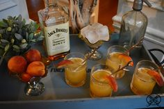 Join me for a cocktail? Today we are making the Jack Daniel's Honey Peach cocktail. Here in Georgia, the peach state, our peaches are at the height of their season. So of course I, being the native Georgia peach that I am, I will be making you a local favorite, the honey peach.
