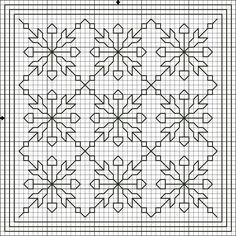 Flores no Jardim - Lee Albrecht: Free blackwork pattern.