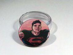 "Comic Book 1.5"" Button// Superboy, $1.00"