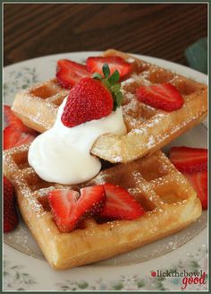 "Hmmm, maybe this recipe will work better for me. been having less-than-stellar ""rising"" with my current recipe... Lick The Bowl Good: Belgian Waffles for Easter Brunch"