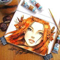 Watercolorist: @mistery_place  #waterblog #акварель #aquarelle #drawing #art #artist #artwork #painting #illustration #watercolor #aquarela
