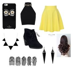 """""""Untitled #8"""" by kaykay0411 ❤ liked on Polyvore featuring Miss Selfridge, QNIGIRLS, Clarks, Kate Spade and Oasis"""