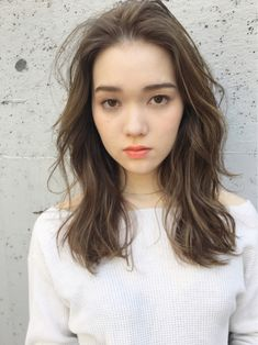 Pin on hair. Pin on hair. Medium Hair Styles, Short Hair Styles, Korean Medium Hair, Middle Hair, Permed Hairstyles, Hair Images, How To Make Hair, Hair Highlights, Hair Designs