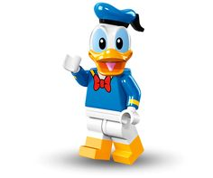 LEGO Disney Series 16 Collectible Minifigure Donald Duck 71012 ** More info could be found at the image url. Lego Disney, Disney Mickey Mouse, Disney Pixar, Serie Disney, Mickey Mouse Donald Duck, Minnie Mouse, Walt Disney, Lego Minifigure, Disney Minifigures