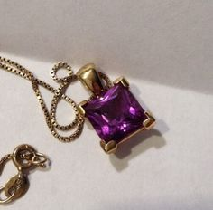 """GOLD+OVER+STERLING+PENDANT+AND+STERLING+BOX+CHAIN+18""""+#Pendant"""