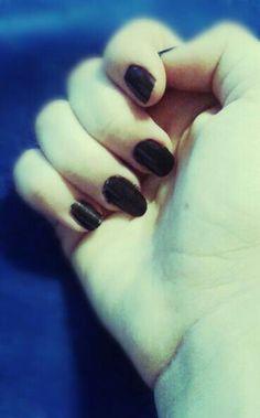 #my #nails #black #schwarz #czarny