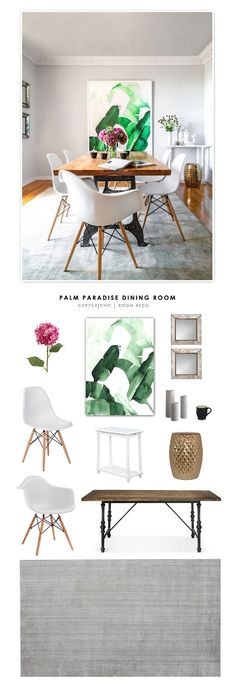 Jenny Bernheim's Palm Paradise Dining Room recreated for less by Copy Cat Chic. by @audreycdyer