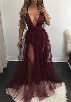 sexy new arrival prom dresses, v-neck vine long prom dresses for women, cheap prom dresses for party, 2017 prom dresses, high quality prom dresses, burgundy prom dresses with sequins, prom dresses with sequins for women
