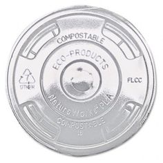 Greenstripe Renewable & Compost Cold Cup Flat Lids, of 1000 Coffee Supplies, Cup With Straw, Food Service Equipment, Plastic Cups, Slushies, Cold Drinks, Compost, Eco Products, Ebay