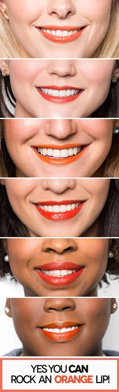 Find the best orange lipstick for your skin tone!