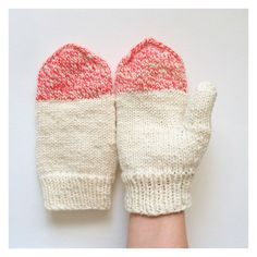 229/365: Hand spun bulky Merino wool mittens. #knit #knits #knitting #mittens #handknit #handmade #handdyed #poemsaboutmeshop #poemsaboutmeknits #etsy