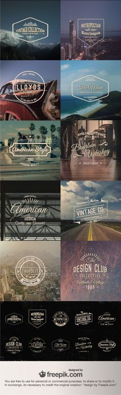 pinterest.com/fra411 #ressources - Vector Freebie Vintage Insignias