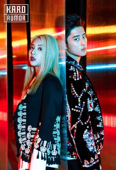 "K.A.R.D released two new set of teasers for ""Rumor"".  The two images have the #Unit"