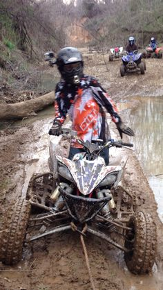 Mud=Gross. Mud+ATV=Fun.  Me on my 2009 YFZ 450R.