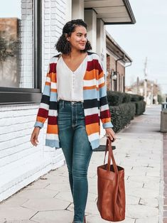 Striped Cardigan | Button Front Cami | Dark Wash Jeans | Why Authenticity as a Content Creator is Important | Authenticity | Influencer Tips | Blogging for Beginners | Blogging Tips | Blogging Ideas | Authenticity Quotes | Content Creator Social Media | Content Creator Instagram | #authenticity #contentcreator #bloggingtips