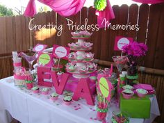"""Photo 5 of 8: Glamourous Pink and Green / Birthday """"Pink and Green extravaganza"""" 
