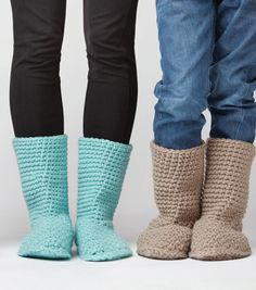 Slipper Boots: FREE crochet slippers pattern