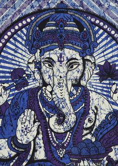 100% cotton ganesha indian batik tapestry #thiscounts#home #decor #homedecor #tapestry