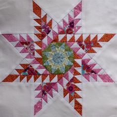 feathered star - Inspired by Marsha McCloskey's Mexican Pinwheel (scroll down) in her book Feathered Star Quilt Blocks I: Really Hard Blocks That Take a Long Time to Make