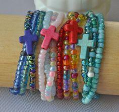 Sideways Cross Stretch Bracelet Gift Assortment Set by TannaGail