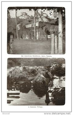 21804 Samoa 1916 Residences of Americans and Samoan.