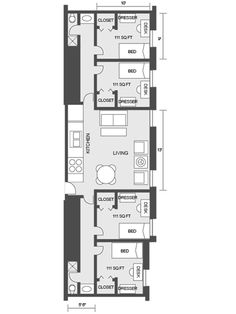 Housing residence life prospective residents for Quad apartment plans