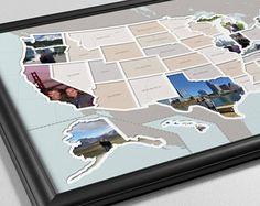 50 States Photo Map - With Printed Background
