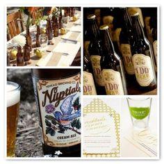 Wedding beer via Woodsy Weddings (pssst...notice the bird on the Nuptiale bottle)