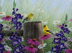 Ashley's Art Gallery - Goldfinch Meadow