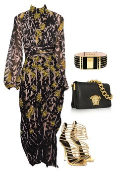 Untitled #4361 by teastylef on Polyvore featuring polyvore fashion style Giuseppe Zanotti Versace Balmain clothing