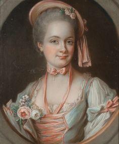 A portrait of Marie-Éléonore-Eugénie de Lévis de Châteaumorand, the comtesse de…