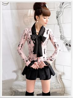 Morpheus Boutique  - Pink Vintage Pattern Long Sleeve Button Down Sweater Jacket, CA$61.53 (http://www.morpheusboutique.com/pink-vintage-pattern-long-sleeve-button-down-sweater-jacket/)