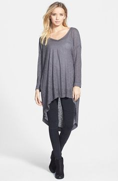 Free shipping and returns on Blu Pepper High/Low Tunic (Juniors) at Nordstrom.com. A featherweight knit tunic takes the high/low trend to the extreme. Its drapey, flowing silhouette is further relaxed by dropped shoulders.