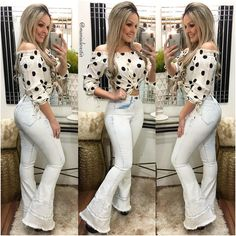 Novidades ❤️ Compre onlin Hot Outfits, Classy Outfits, Pretty Outfits, Fashion Outfits, Casual Jeans, Casual Chic, Cute Jeans, African Fashion Dresses, Denim Outfit