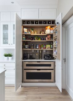 If you are looking for Kitchen Pantry Design Ideas, You come to the right place. Below are the Kitchen Pantry Design Ideas. This post about Kitchen Pantry Desi. Clever Kitchen Storage, Kitchen Pantry Design, Kitchen Pantry Cabinets, Home Decor Kitchen, Home Kitchens, Kitchen Ideas, Kitchen Organization, Kitchen Units, Island Kitchen