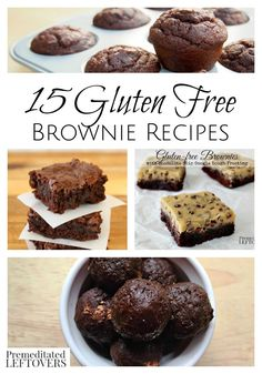 15 Gluten-Free Brownie Recipes - Rich and delicious gluten-free brownie recipes. These recipes use flour substitutes to create gluten-free brownies.