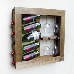 Sostenedor del vino de la pared pared montado por 2BrosDesigns