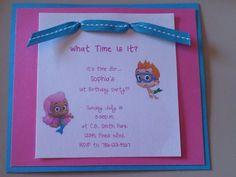 Sugar Plum Card Creations: Party Like a Bubble Guppy