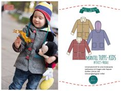"Ebook Mantel ""TUPPI-KIDS"" by EvLi's-Needle Apron, Kids, Fashion, Cowl, Sewing Patterns, Guys, Four Seasons, Young Children, Moda"