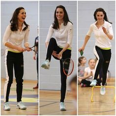 While in Edinburgh, Kate participated in a tennis workshop led by Andy Murray's mother, Judy.
