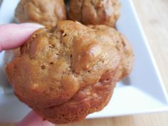 Gingerbread banana yogurt muffins – Drizzle Me Skinny!