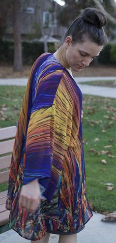 """The Arbor Crystal Kimono"" - Menthol crystals sure make for a beautiful print!"