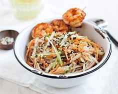 Cold Sesame Noodles with Butter Pepper Shrimp | Easy Asian Recipes at RasaMalaysia.com