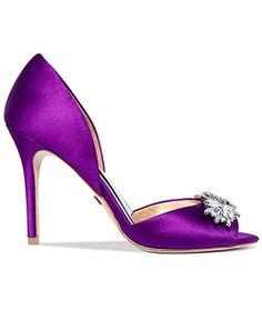 Badgley Mischka Nikki Mid Heel Evening Pumps - Evening & Bridal - Shoes - Macy's