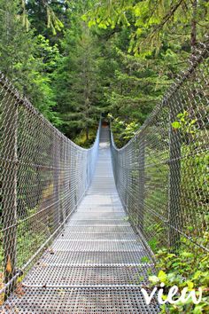 Haslam Creek Suspension Bridge - one of the many hidden gems on Vancouver Island. Vancouver Travel, Vancouver Washington, Vancouver Island, Cool Places To Visit, Places To Travel, Travel Destinations, San Juan Islands, Suspension Bridge, Canada Travel